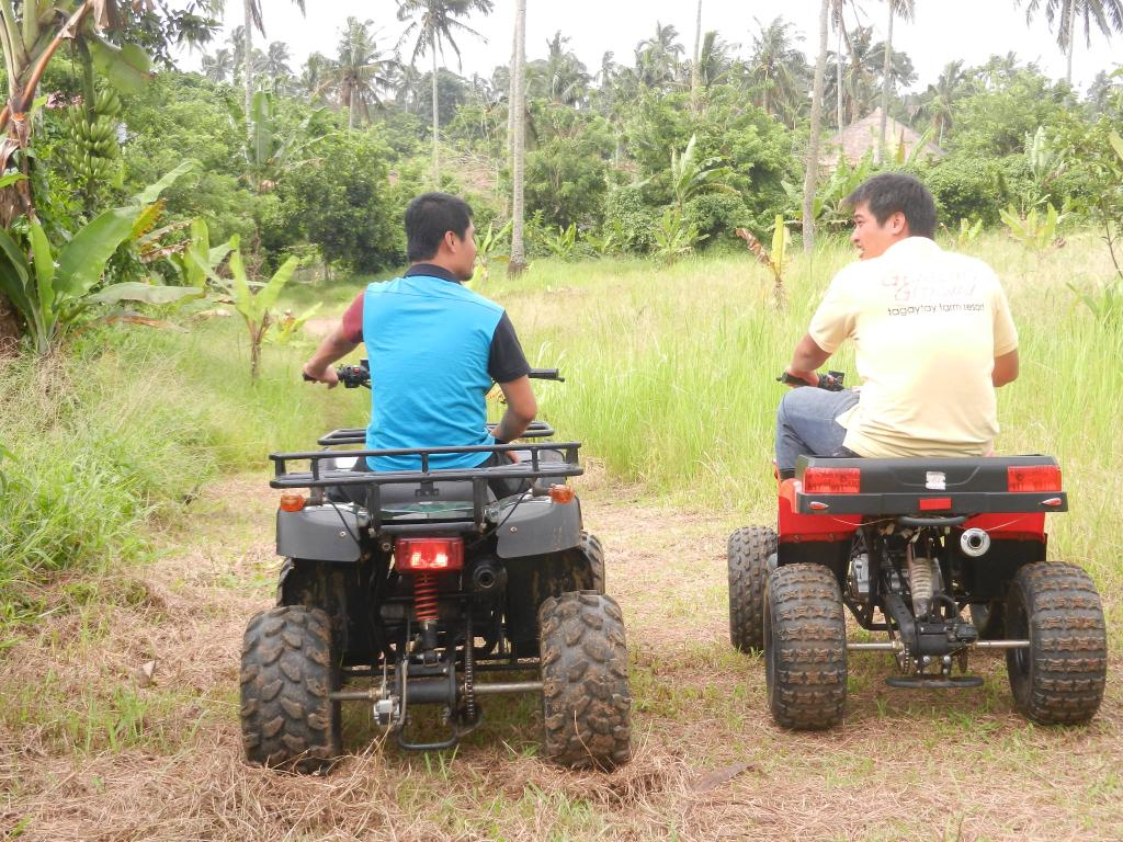ATV (All Terrain Vehicle) ride in Tagaytay, 3km course at Gratchi's Getaway