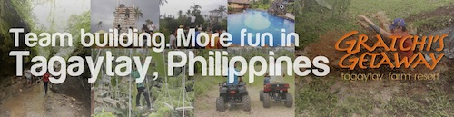 Team Building. More fun in Tagaytay, Philippines at Gratchi's Getaway - Farm Resort